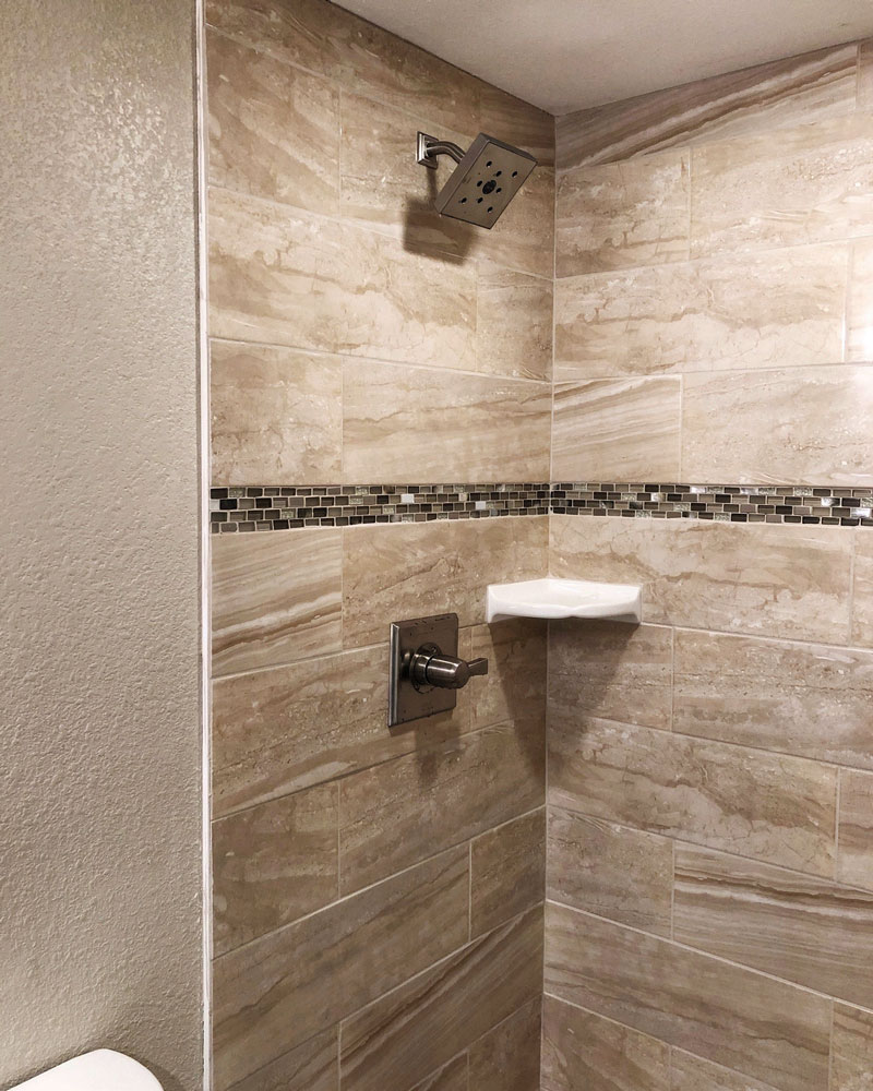 Remodeled Shower Erie Colorado