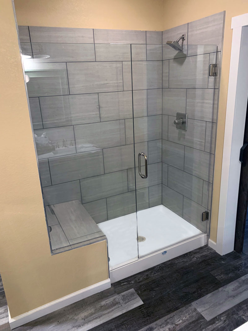 Remodeled Tile Shower Erie Colorado