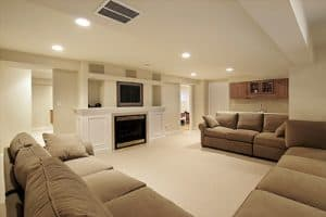 basement seating area