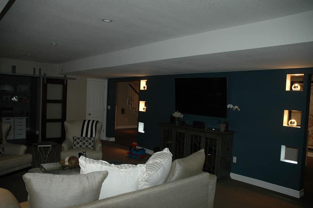 elegant basement full seating area shot