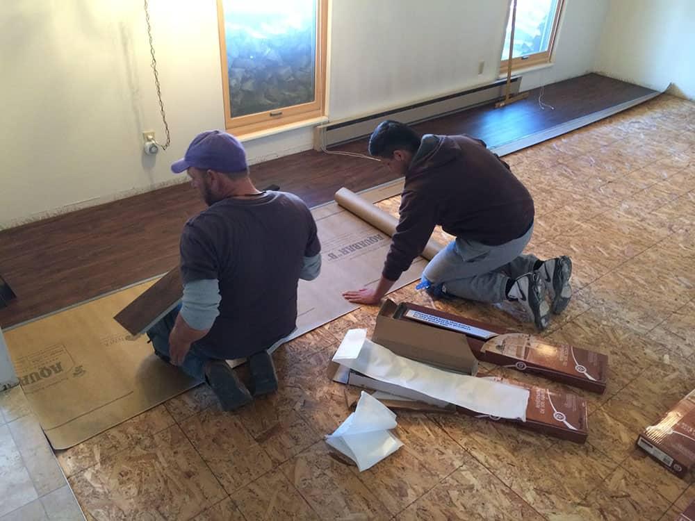 elegant basement floor finishing