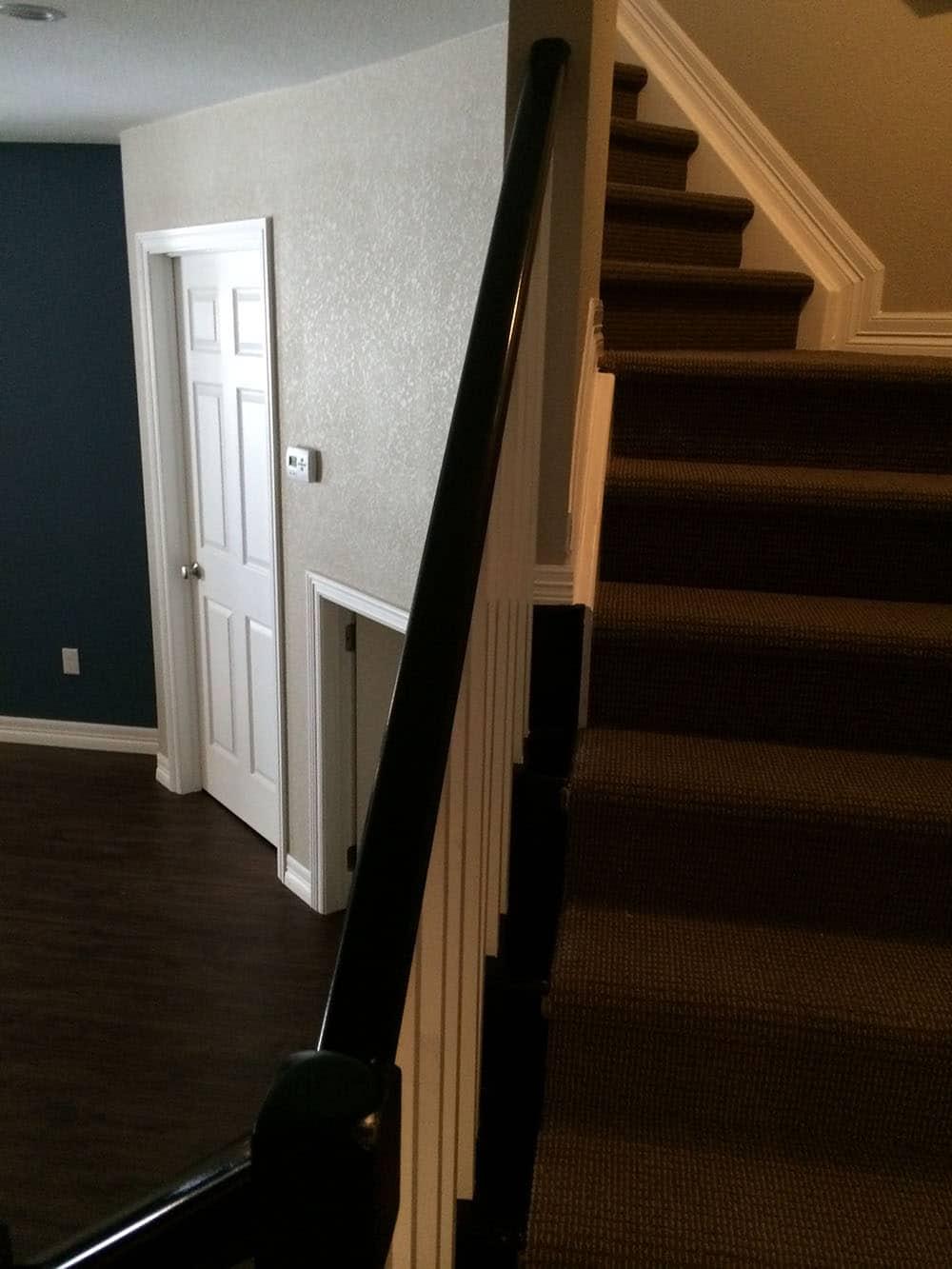 elegant basement stairs