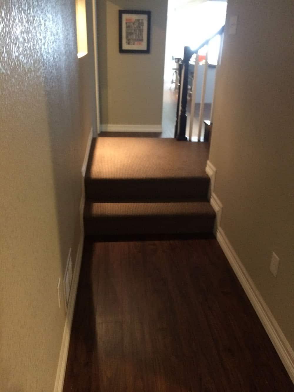 elegant basement hallway and stairs