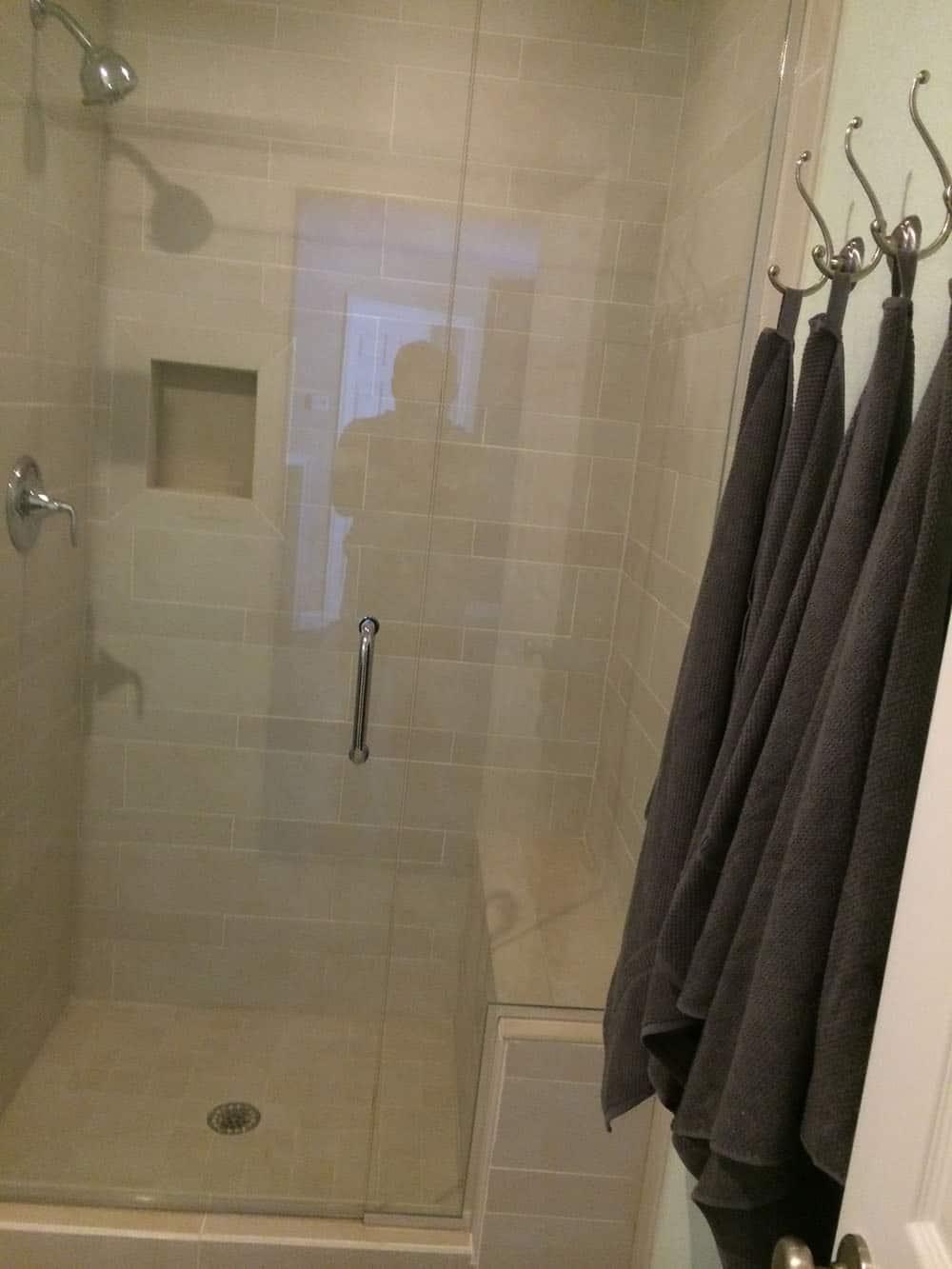 elegant basement shower