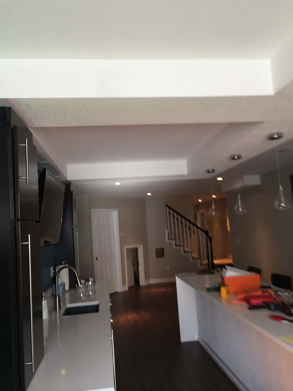 elegant basement finished kitchen