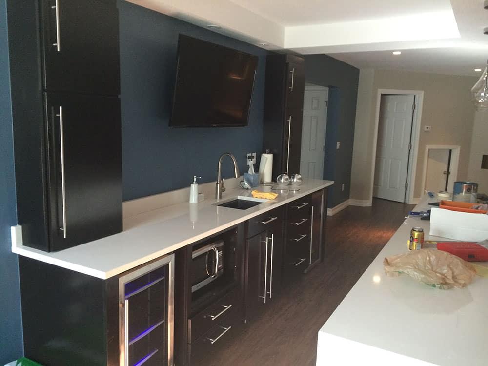 elegant basement kitchen