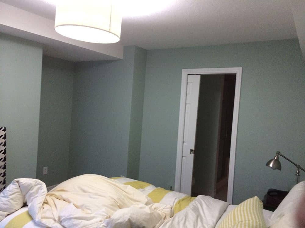 Elegant basement bedroom