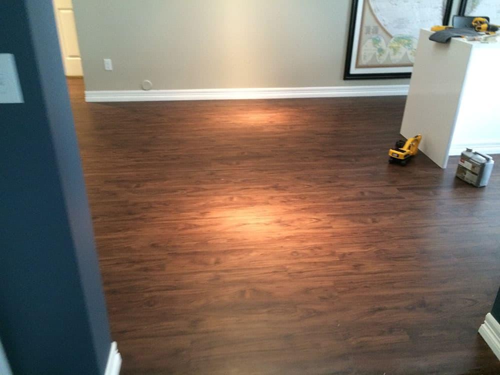 elegant basement wood flooring