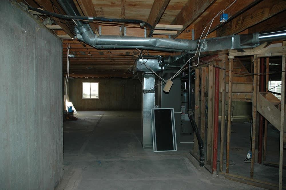 elegant basement waiting to be finished