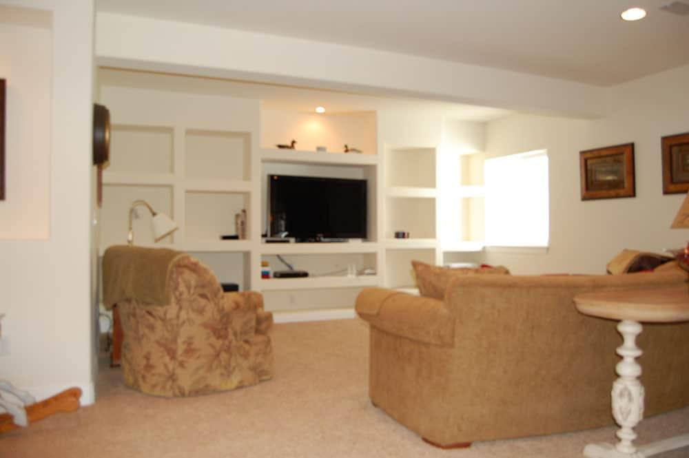 simple white basement
