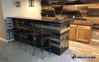 shiplap wooden bar
